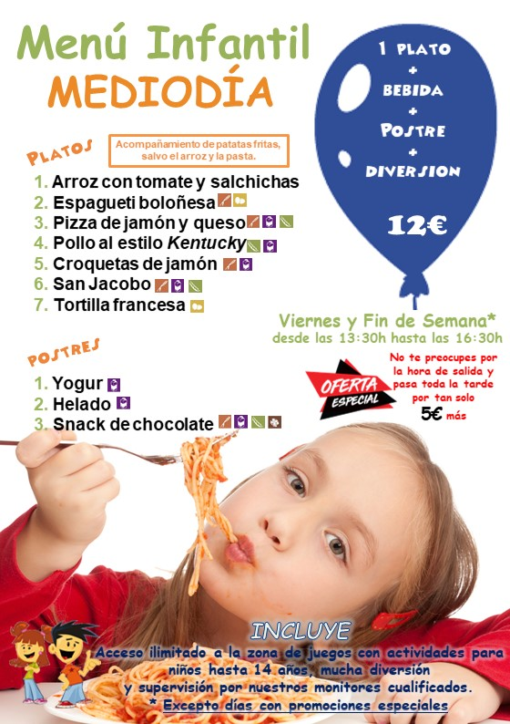 Restaurante-Menú infantil